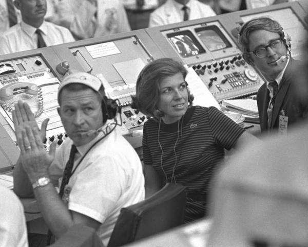 JoAnn Morgan was the only woman in the launch firing room during the launch of Apollo 11.