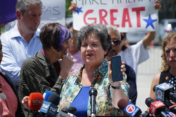 U.S. Rep. Lois Frankel, D- West Palm Beach speaking at the Homestead Detention Facility.
