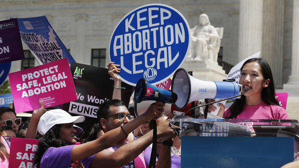 President of Planned Parenthood Leana Wen speaks during a protest against abortion bans on May 21 outside the Supreme Court in Washington.