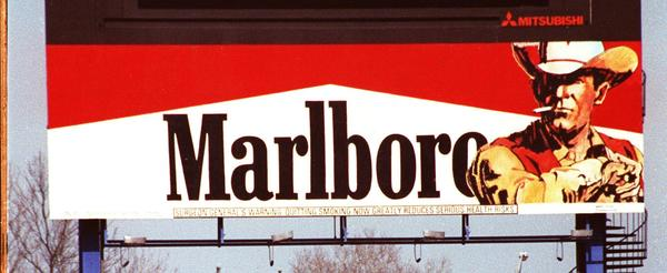 "The ""Marlboro Man"" on a billboard in Shea Stadium's center field in the 1990s. (Kevin Coughlin/AP)"