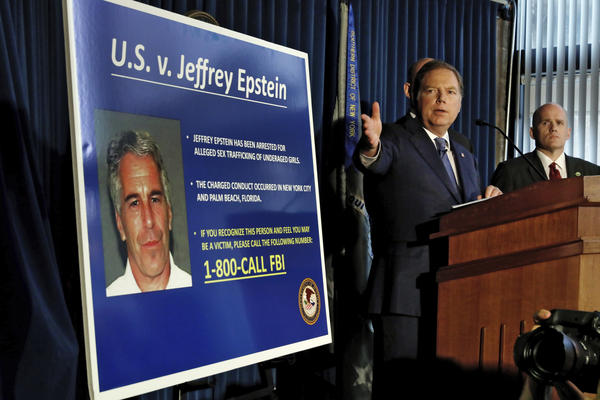 Federal prosecutors announced sex trafficking and conspiracy charges against wealthy financier Jeffrey Epstein on July 8, 2019 in New York.