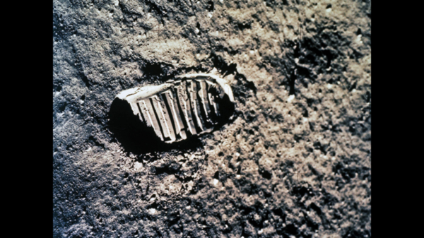 An Apollo astronaut's footprint on the moon. Scientists says there's a good chance the Apollo moon-walker footprints are still there, 50 years later.