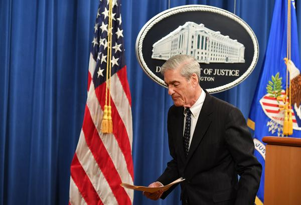 Robert Mueller leaves in May after speaking about the special counsel investigation into Russian interference in the 2016 U.S. election.