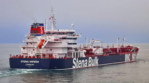 "The owners of the Stena Impero say the tanker ""was approached by unidentified small crafts and a helicopter"" as it tried to pass through the Strait of Hormuz on Friday."