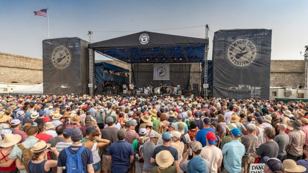 The Fort Stage during the Newport Folk Festival, 2018 at Fort Adams State Park in Newport, Rhode Island.