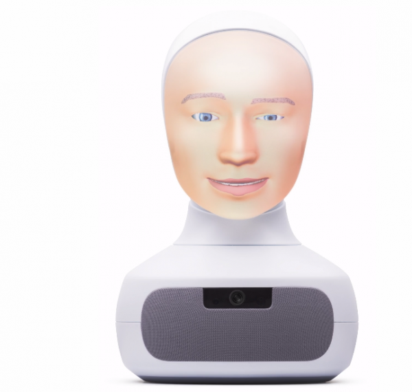 This robot head is already interviewing candidates in Sweden. An English version is due out in 2020.