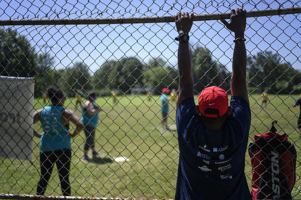 The annual Ultimate Beepball Championship Tournament is organized by MindsEye Radio, a nonprofit in Belleville that provides programming for people with vision loss.