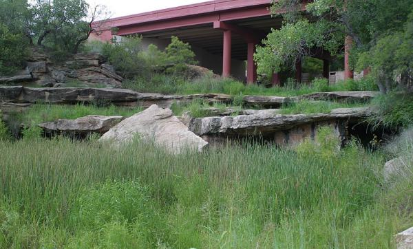 Due to agricultural pumping and resulting depletion of the Ogallala Aquifer, the White River no longer maintains a spring-fed base flow and, today, Silver Falls is often dry and overgrown with vegetation.