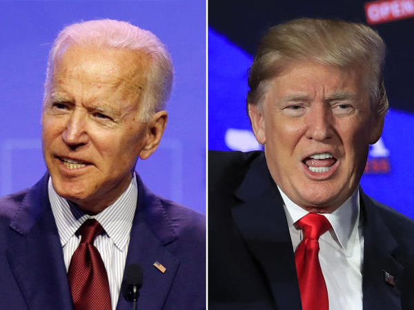 Former Vice President Joe Biden (left) holds a 5 point lead over President Donald Trump in a new poll by Quinnipiac University.