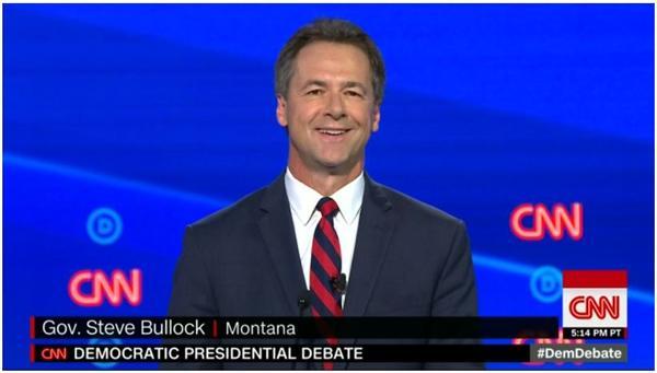 Montana Governor Steve Bullock made his Democratic presidential primary debate debut in Detroit July 30.
