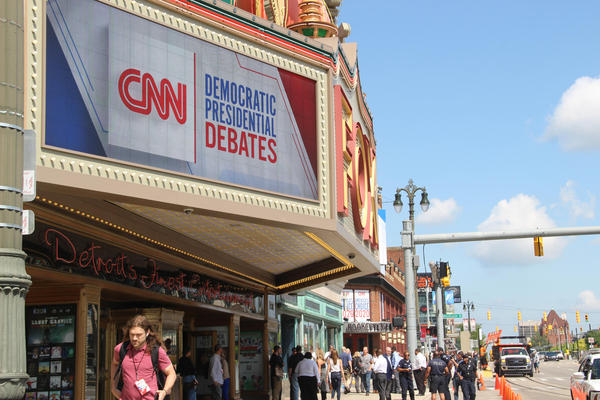 Two nights of Democratic presidential primary debates are scheduled at the Fox Theatre in Detroit this week.