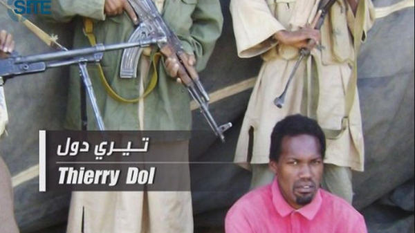 <p>This image released by the SITE Intelligence Group on April 27, 2011, shows Thierry Dol, one of four French hostages held by al-Qaida's North Africa affiliate. U.S. counterterrorism officials are concerned that al-Qaida affiliates in Africa are growing stronger. </p>