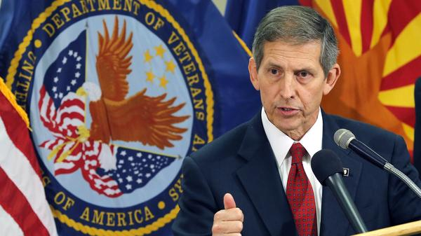 Sloan Gibson, acting secretary of Veterans Affairs, spoke in Phoenix last week. After a visit to a VA hospital, he said additional resources were likely needed in the area. Nationwide, the number of veterans seeking health care has risen dramatically in recent years.