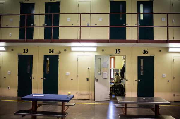 A view inside Rhode Island's John J. Moran Medium Security Prison, in Cranston. Rhode Island is the only state to screen every individual who comes into the correctional system for opioid use disorder, and to offer, in conjunction with with counseling, all three medically effective treatments.