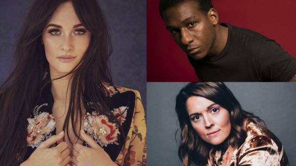 Grammy Nominees Kacey Musgraves (credit Jamie Nelson),Leon Bridges (credit Jack McKain),and Brandi Carlile (credit Alysse Gafkjen)