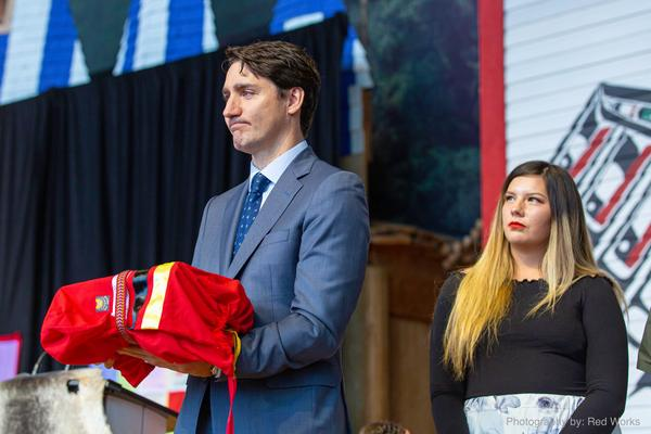Prime Minister Justin Trudeau addresses at the release of The National Inquiry into Missing and Murdered Indigenous Women and Girls in Gatineau, Que., on Monday, June 3, 2019.