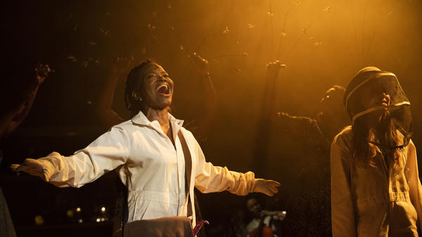 LaChanze (left) and Elizabeth Teeter star in the Atlantic Theater Company's off-Broadway production of the musical adaptation of <em>The Secret Life of Bees.</em>