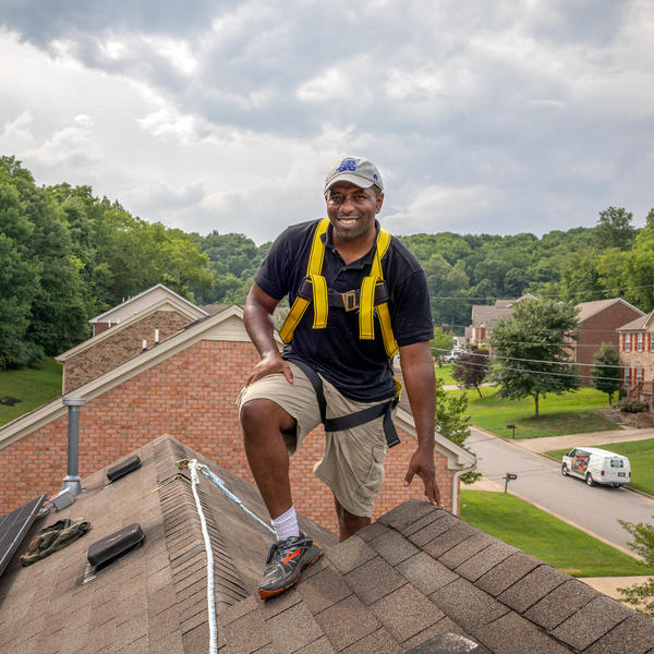 Jason Carney designed and installed the solar array on the roof of his house in Nashville, Tenn. He wants to introduce more people in minority communities to the advantages of solar energy.