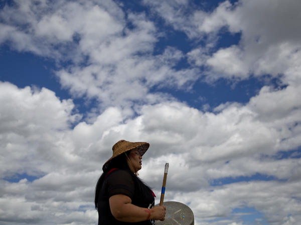 Roxanne White, whose aunt was murdered in 1996, sings and drums a women's warrior and honor song created for missing and murdered indigenous women, before joining a search in Browning, Mont., for Ashley HeavyRunner Loring, who disappeared from the Blackfeet Indian Reservation. Montana is one of seven states to create a task force to address violence against indigenous women.