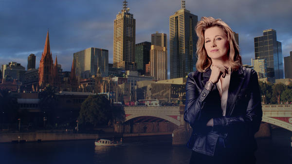 Lucy Lawless stars as retired detective Alexa Crowe in <em>My Life is Murder.</em>
