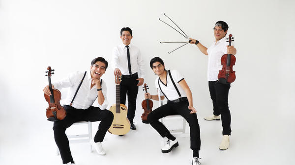 From left: Alberto Villalobos, Humberto Flores, Luis Villalobos and Ernesto Villalobos of the Villalobos Brothers. Their latest album, <em>Somos</em>, is out now.