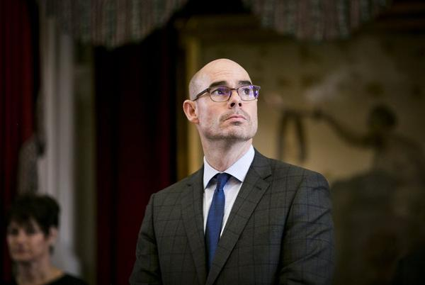 House Speaker Dennis Bonnen attends the Texas Fallen Heroes ceremony in May.