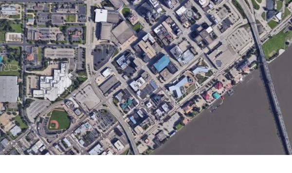 Satellite image of downtown Peoria