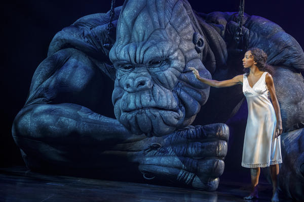 The musical <em>King Kong</em>, which stars Christiani Pitts alongside a giant ape puppet, will end its run Aug. 18.