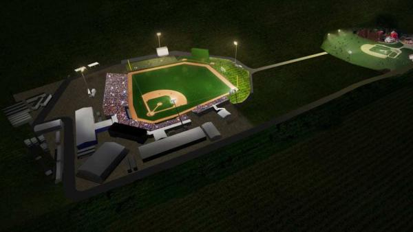 In Iowa, a temporary ballpark will be built to host a game between the New York Yankees and Chicago White Sox next summer.