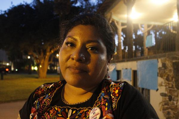 Tania Chavez is with La Union Del Pueblo Entero, a local immigrants rights group, who helped organize the vigil.
