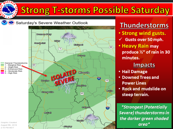 Saturday's severe weather outlook