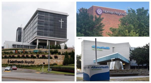 Saint Francis Health System, Norman Regional Health System and AllianceHealth Woodward were among the hospitals or systems that sued patients the most over unpaid bills.