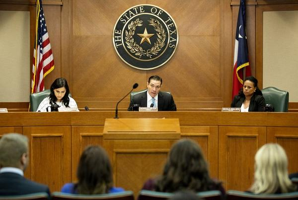 Committee Chair Rep. Morgan Meyer, R-Dallas, at the Texas House General Investigating committee hearing on Aug. 12.