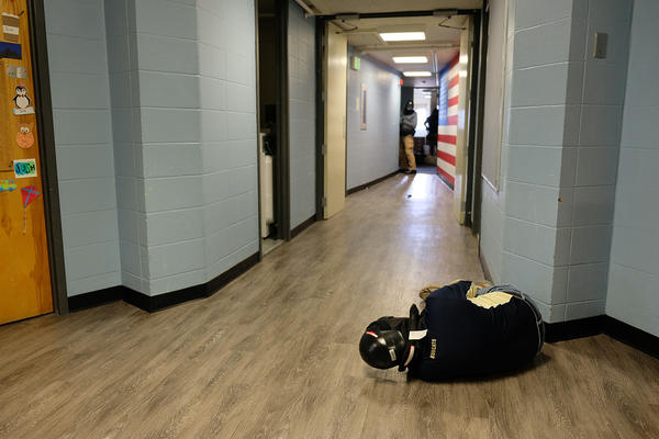 FBI trainers and MSU police play out different active shooter scenarios as part of a two-day training in Roskey Hall Dormitory at MSU's campus in Bozeman, Montana, August 08, 2019.