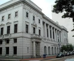 The John Minor Wisdom U.S. Courthouse is home of the Fifth Circuit Court of Appeals in New Orleans, Louisiana.