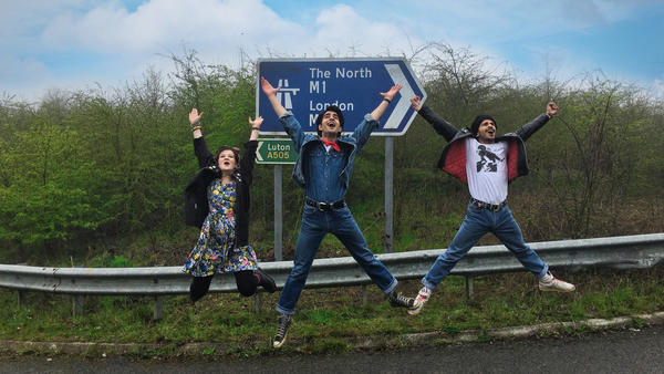Come on, rise up! <em></em><em>Blinded by the Light</em> follows first-generation British teen Javed (Viveik Kalra, center) as he discovers hope and Bruce Springsteen in 1980s Britain.