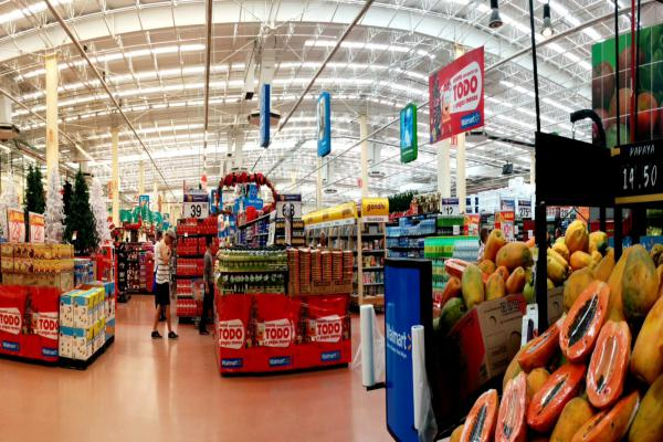 """The inside of a Walmart. Experts warn of the dangers of """"soft targets"""" like shopping centers."""