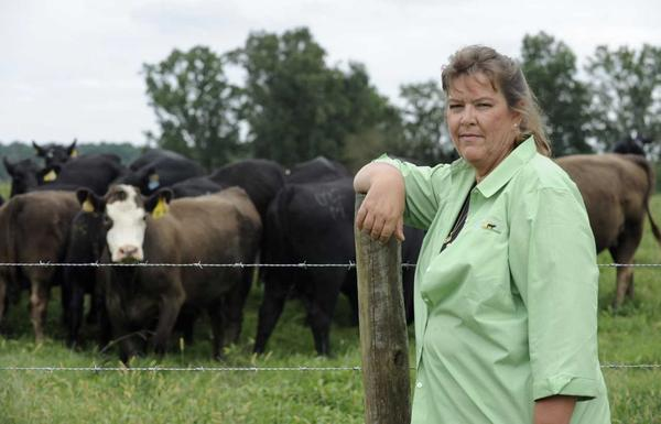 """Martha Mobley's father milked 23 cows before going to school each day. Once Martha was old enough, she took over. Now managing her family farm, Mobley rears Angus cattle for meat and keep four Jersey cows as """"pets""""."""