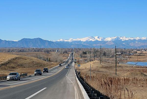 A view of Baseline Road in Colorado