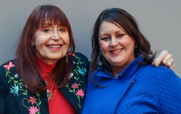 "During their StoryCorps interview in April, Elizabeth Coffey-Williams (left) told her niece, Jennifer Coffey (right), about how her loving family did not understand what being transgender meant. ""My parents were afraid, well, you know, <em>this might be contagious</em>,"" she said."