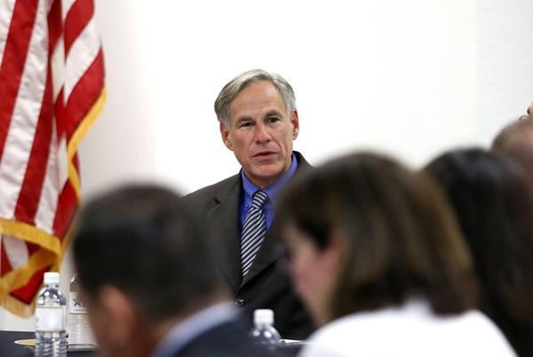 Gov. Greg Abbott meets with El Paso area state legislators four days after a mass murderer killed 22 people at a Walmart in El Paso.