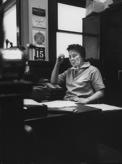 Harper Lee in her family's law office.