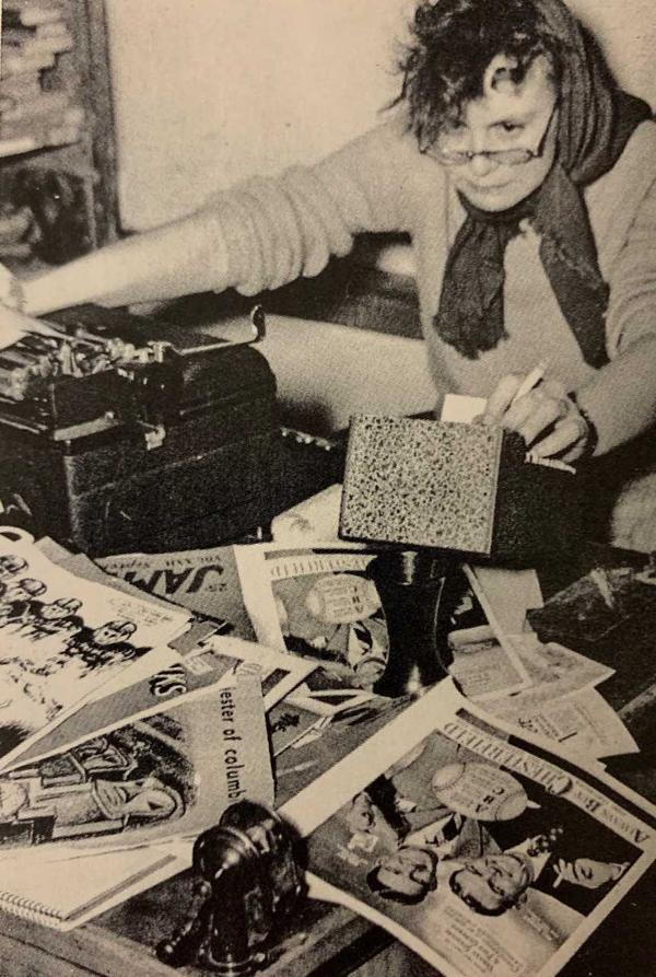 Nelle Harper Lee in the offices of the Rammer-Jammer during her time as a student at the University of Alabama.