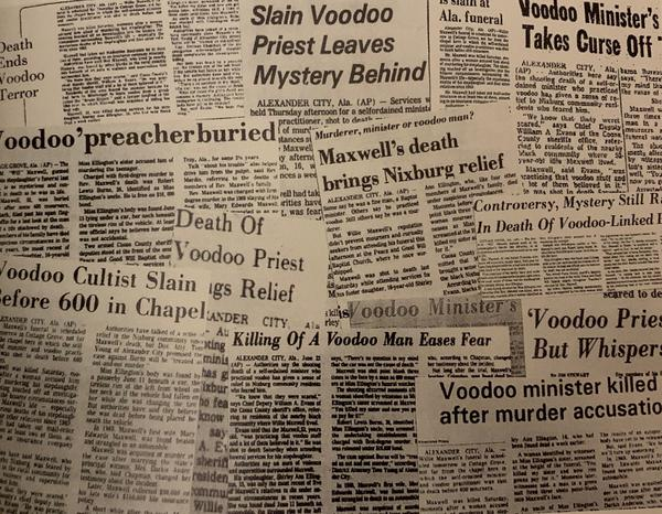 National headlines from the murder of the accused Baptist Reverend Maxwell used voodoo as a derogatory association.