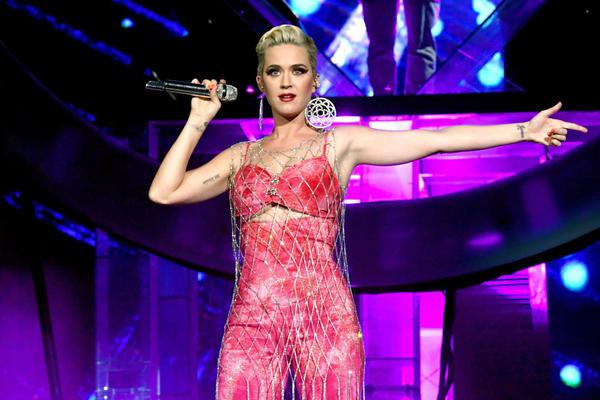 INDIO, CA - APRIL 14:  Katy Perry performs onstage with Zedd at Coachella Stage during the 2019 Coachella Valley Music And Arts Festival on April 14, 2019 in Indio, California.  (Photo by Kevin Winter/Getty Images for Coachella)