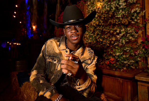 Lil Nas X poses backstage during the 2019 Stagecoach Festival at Empire Polo Field in Indio, California.