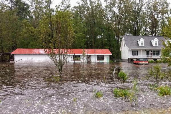 File photo: Aftermath of Hurricane Florence in North Carolina.