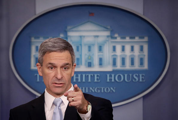 WASHINGTON, DC - AUGUST 12:  Acting Director of U.S. Citizenship and Immigration Services Ken Cuccinelli speaks about immigration policy at the White House during a briefing.