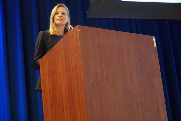State Auditor Nicole Galloway speaks at the Truman Dinner on Saturday.