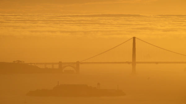 "A sea of fog advances on the Golden Gate Bridge during a late winter twilight in 2016. On Saturday, the operators of <a href=""http://www.fogcam.org/"">FogCam</a> said the long-running webcam at San Francisco State University will sunset ""forever"" at the end of August."
